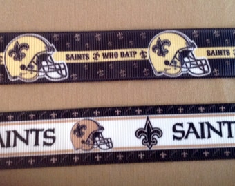 1 Inch Wide Custom Made Adjustable New Orleans Saints Dog Collar