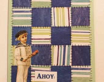 Ahoy Quilt Card