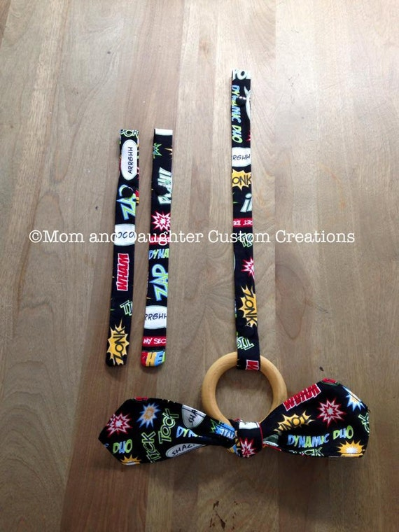 CUSTOM Baby carrier Toy strap and teething ring