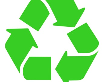 Recycle Logo Decal Sticker,  Free Shipping in the US!