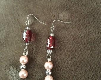 Pink & Red Earrings