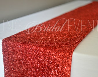 Superior Red Sparkly Table Runner