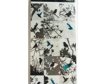 Silhouette Sticker, clear sticker (birds) ST0003