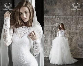 Wedding dress. Lace wedding dress. Long sleevs wedding dress Vera