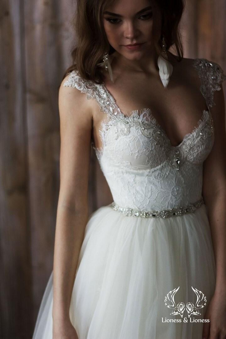 Wedding dress 2 in 1 short wedding dress beach by for Wedding dresses 2 in 1