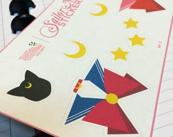 Sailor Moon Stickers: Sailor Moon & Sailor Chibi Moon Combo (SM 1)