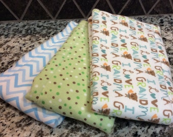 Handmade Gerber Burp Cloth Set – Super Soft and Absorbent