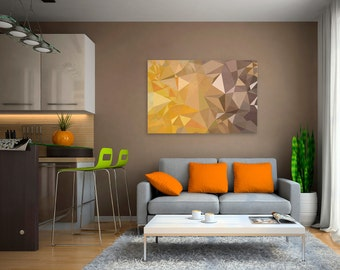 Canvas Print - YELLOW TRIANGLES - (23801)