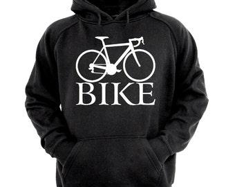Bike Hoodie,sizes small- XL,black hoodie, cycling Hoodie, biking hoodie