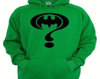 Batman/Riddler Hoodie,sizes small- XL,Green hoodie, Riddler Hoodie, Batman hoodie