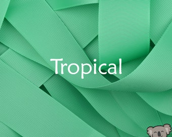 Tropical Grosgrain Ribbon 3 Metre Cut, FREE Shipping, 64 Colours in 7 Widths Available