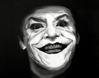 Jack Nicholson Fine Art Print (The Joker - Tim Burton - Batman 1989 - DC Comics - Superhero - Villains - Comicbook - Icon - Portrait)