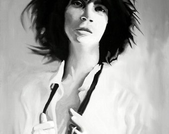 Patti Smith Fine Art Print (Horses - Gloria - Because The Night - Icons - Punk - Protopunk - New York - Poet - Mapplethorpe - Just Kids)
