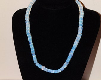 "Vintage RARE Iridescent Sheen Moonstone 17"" Necklace."