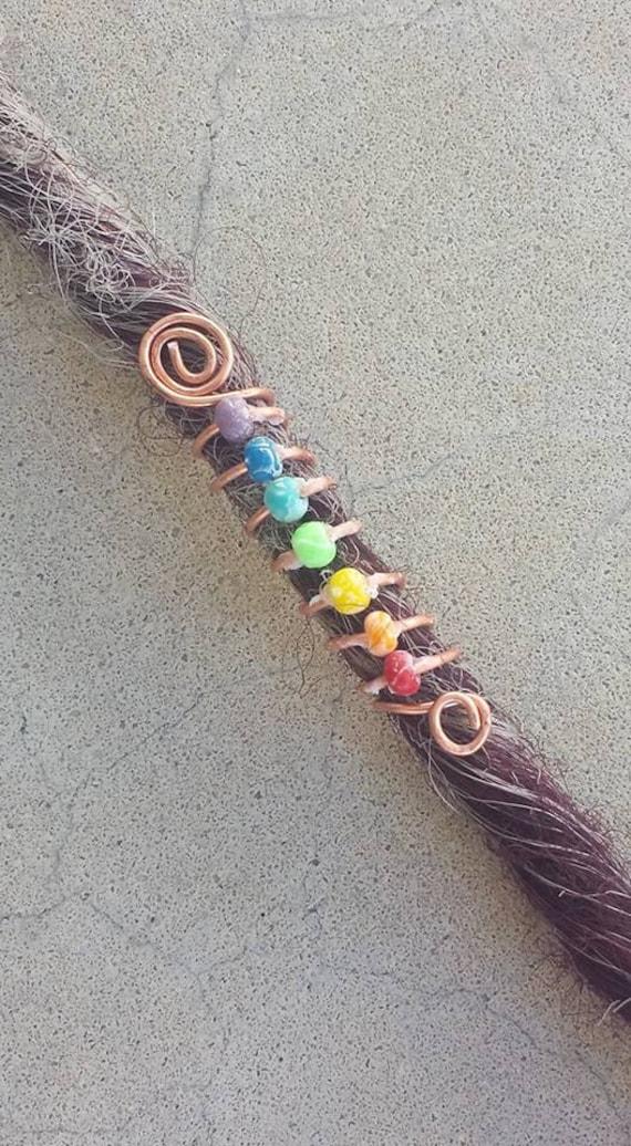 chakra spiral dreadlock bead cuff dreadlock beads braid