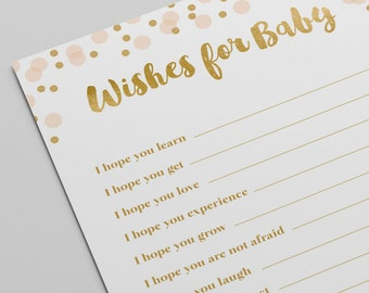 Baby Shower Card Printable ~ Confetti wishes for the baby card baby shower printable game