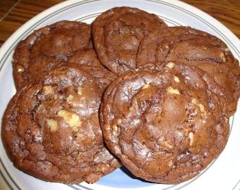 Homemade Brownie Cookies With Toffee & Toasted Walnuts (30 Cookies)