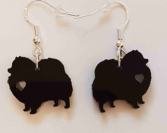 I love Pomeranian's Dog Earrings - Acrylic