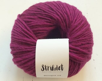 STRIKDET Organic Wool Purple / Økologisk Uld - Lyng