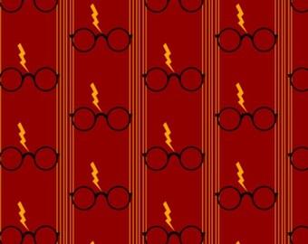 Harry Potter Blanket // glasses, lightening, golden snitch, spells  // soft minky fabric,