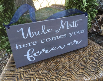 Here comes your bride, Here comes the bride, flower girl sign, ring bearer sign, custom sign, custom wedding sign, custom wood sign, wedding