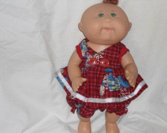 Cabbage Patch premie dress and panties with Holly Hobbie fabric
