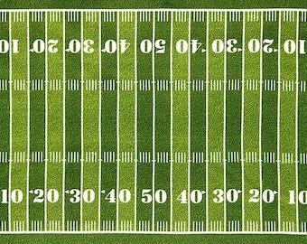 Football Field Fabric Panel  / Sports Life 3 / Robert Kaufman Fabric SRK-14613-47 GRASS / Fabric Panel