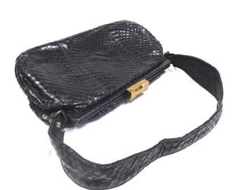 Vintage Bellestone Snakeskin Handbag/ Purse - 1960s