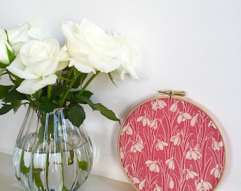 A beautiful Liberty print wall hanging. Embroidery Hoop Decoration. Perfect Gift for child's room or nursery. 15cm 6""