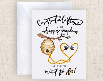 Congratulations to the happy couple Meant to BEE Greeting Card