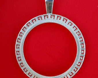 Solid 925 Sterling Silver Bezel Mount Frame Settings to Fit 23 mm Diameter Coins