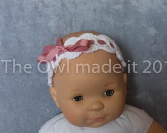 Baby headband, baby girl headband, crochet baby headband, baby girl gift, kids headband, newborn gift, photo prop, baby gift, UK seller