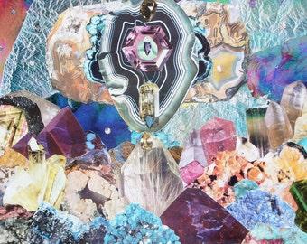 Gem Palace Original Collage Print by Alyssa Silva