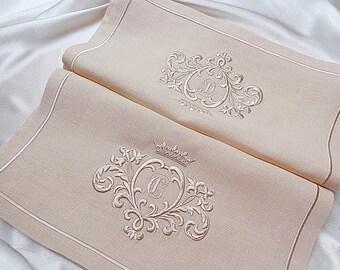 Machine Embroidery Design - Gold Monogram Blank - 2 sizes