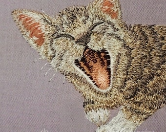 Machine Embroidery Design - Pocket Cat