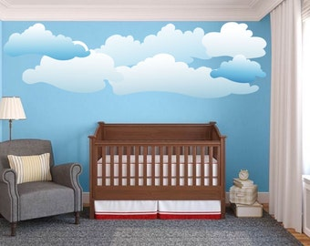 Bedroom Cloud Decals Cloud Wall Art Design Cloud Wall Decal - Nursery wall decals clouds