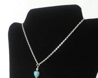 Turquoise Necklace, Turquoise Pendant, Gemstone Necklace, Birthstone Necklace, December Birthstone