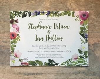 Custom Wedding Invitation: DIY Printable