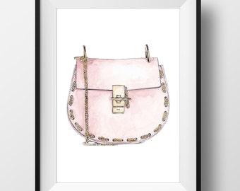 CHLOE BAG PRINT - Original watercolor print