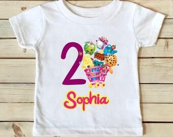 Shopkins Birthday Shirt - Shopkins Shirt - Birthday Shirt - Girls Birthday Shirt - Personalized Shirt- Custom Shirt-