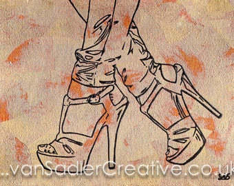 Sarah Scotchman - Uptown Girl - Metal Leaf & Enamel on Canvas (40 x 30cm)