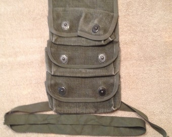 Vintage French Canvas 3 Grenade Pouch