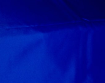 Medium Blue Sateen Fabric, 4 3/8 Yards, 58 in. W, solid color, blue sateen
