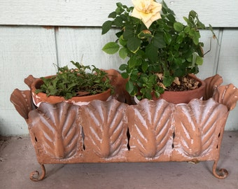 Two plant holders