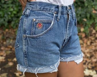 Vintage High-Waisted Twenty X Cut-off Denim Shorts 27