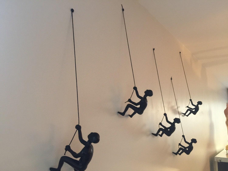 Climbing Man Wall Art 3 piece climbing sculpture wall art gift for home decor