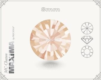 6 pc.+ SS39 (8mm) Preciosa MC Chaton MAXIMA - Light Peach Color