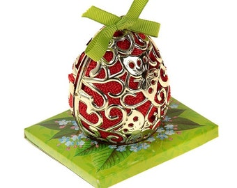 gift for Easter, Passover, Microfiber towel, carved egg surprise-towel + packaging + suspension, miracle