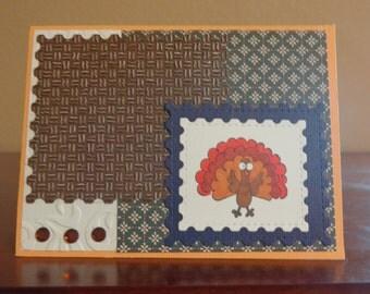 Autumn turkey card
