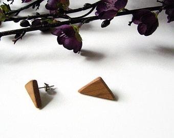 READY TO GO Reclaimed wood triangle earrings